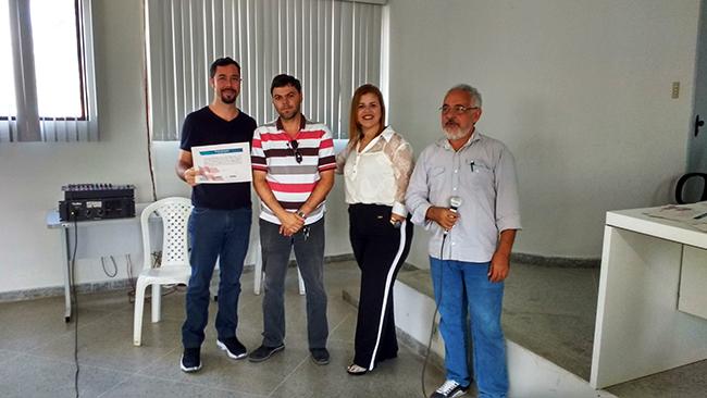 Rodrigo Borges (IBIO), José Emarcio Torres (Associenge), Patrícia Reis (coordenadora UR-Eunápolis/Inema), Marivaldo Dias (Codis/Inema). Foto: Euclides Senna /UR-Eunápolis/Inema